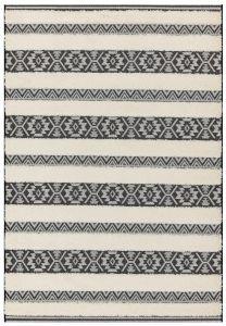 Monty MN03 Black Striped Rug by Asiatic