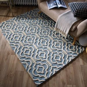 Moorish Nador Duck Egg Rug by Flair Rugs