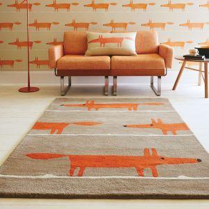 Mr Fox 25303 Cinnamon Hand Tufted Wool Rug by Scion