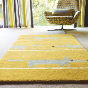r Fox 25306 Mustard Hand Tufted Wool Rug by Scion