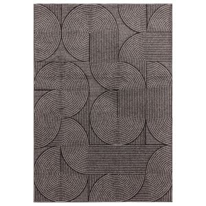 Muse MU01 Chocolate Abstract Rug by Asiatic