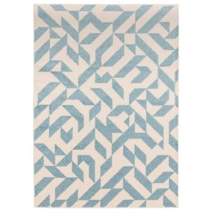 Muse MU03 Cream Blue Abstract Rug by Asiatic