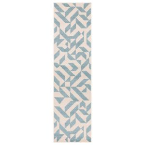 Muse MU03 Cream Blue Abstract Runner by Asiatic