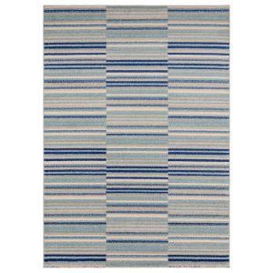Muse MU05 Blue Striped Rug by Asiatic