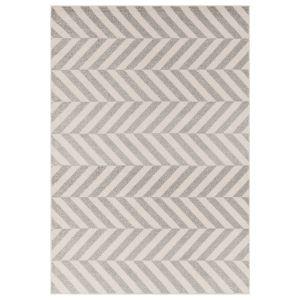 Muse MU07 Cream Grey Striped Rug by Asiatic