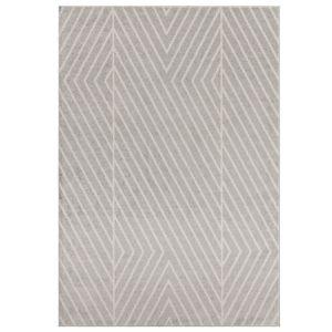 Muse MU09 Grey Striped Rug by Asiatic