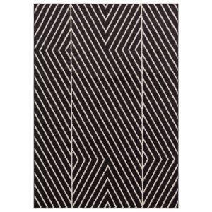 Muse MU10 Black Striped Rug by Asiatic
