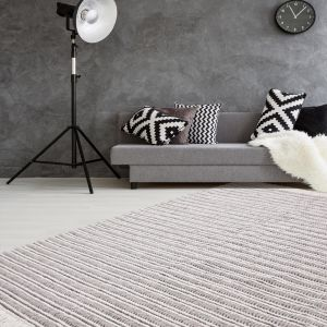 Natura 110 Natural/Grey Wool Rug by Kayoom