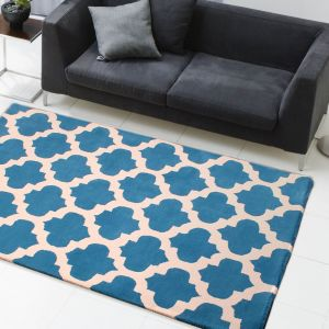 New Art Classico Blue Ivory Wool Rug by HMC