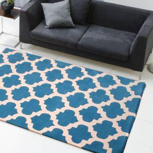 New Art Classico Blue Ivory Wool Rug by HMC