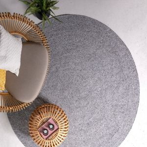 Nico Grey Plain Rug by Asiatic