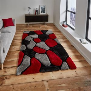 Noble House NH-5858 Grey/Red Rug by Think Rugs 1