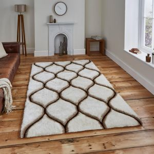 Noble House NH30780 Cream/Brown Rug by Think Rugs