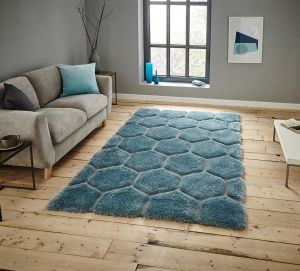 Noble House NH30782 Blue Rug by Think Rugs