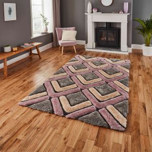 Noble House NH8199 Grey/Rose Rug by Think Rugs