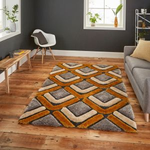 Noble House NH8199 Grey/Yellow Rug by Think Rugs