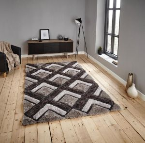 Noble House NH8199 Silver Rug by Think Rugs