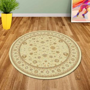Noble Art 6529 190 Traditional Beige Circle Rug By Mastercraft