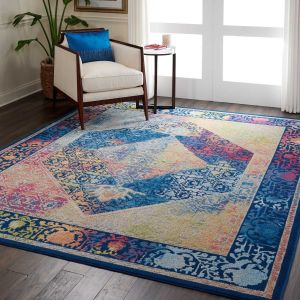 Nourison Ankara Global ANR04 Blue Multicolour Rug