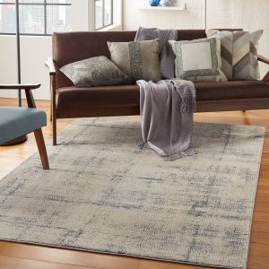 Nourison Rustic Textures RUS06 Ivory Blue Rug