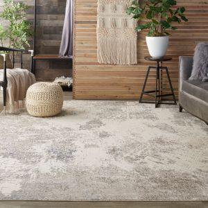 Nourison Silky Textures SLY06 Ivory Grey Rug