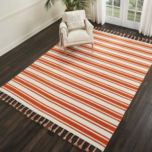 Nourison Rio Vista DST01 Ivory/Orange Wool Rug