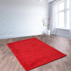 Oakland Red Wool Rug by HMC