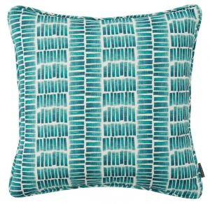 Ocean Green Striped Cushion by Claire Gaudion