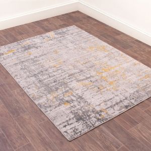 Odyssey Earth Gold Abstract Rug by Rug Style