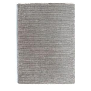 Orient Dove Grey Stripe Wool Rug by Rug Guru