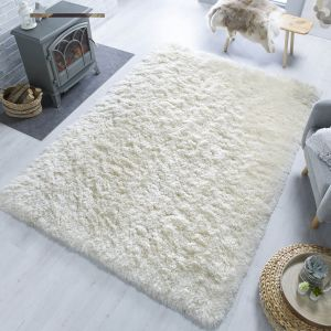 Orso Ivory Shaggy Rug by Flair Rugs