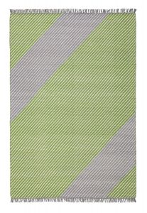 Oslo OSL701 Lime Striped Rug by Concept Looms