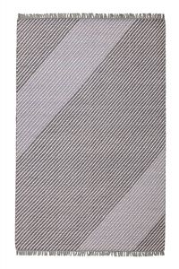 Oslo OSL701 Steel Striped Rug by Concept Looms
