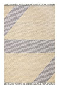 Oslo OSL702 Lemon Striped Rug by Concept Looms