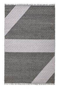 Oslo OSL702 Onyx Striped Rug by Concept Looms