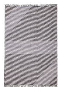 Oslo OSL702 Steel Striped Rug by Concept Looms