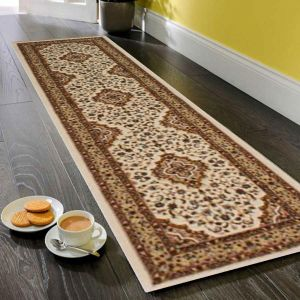 Ottoman Temple Cream Traditional Runner By Flair Rugs