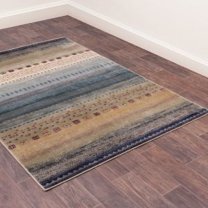 Oushak Gabbeh Teal Traditional Rug by Prestige