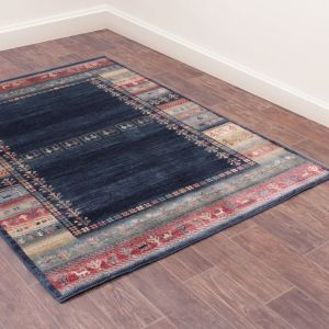 Oushak Luri Blue Traditional Rug by Prestige