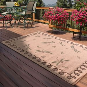 Outdoor Dragonfly Natural Rug by Rug Style