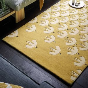 Pajaro 23906 Ochre Hand Tufted Wool Rug by Scion