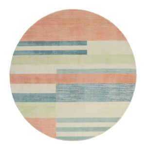 Parwa 026300 Chalky Brights Wool Circle Rug by Scion