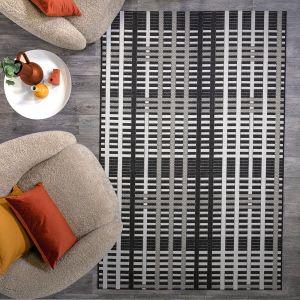Patio PAT22 Black Grid Rug by Asiatic