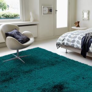 Payton Teal Plain Rug by Asiatic