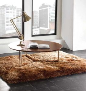 Pearl Caramel Polyester Rug By Flair Rugs 1