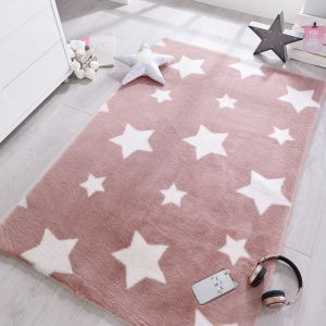 Pick N Mix Twinkle Candy Floss Pink Kids Rug by Flair Rugs