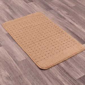 Pin Dot Beige Washable Mat by Rug Style