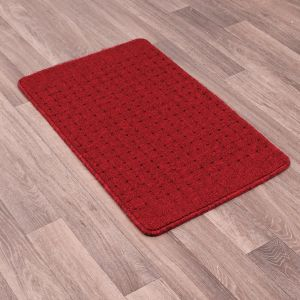 Pin Dot Red Washable Mat by Rug Style