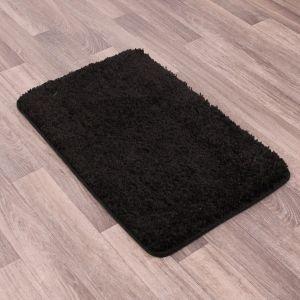 Pinnacle Washable Black Plain Shaggy Rug by Rug Style