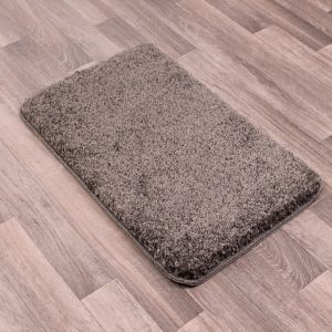 Pinnacle Washable Grey Plain Shaggy Rug by Rug Style